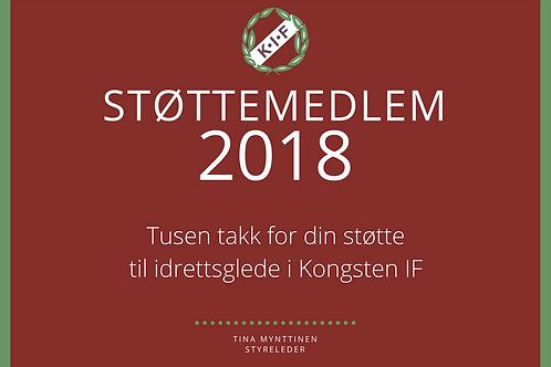 Støttemedlemskap 2018