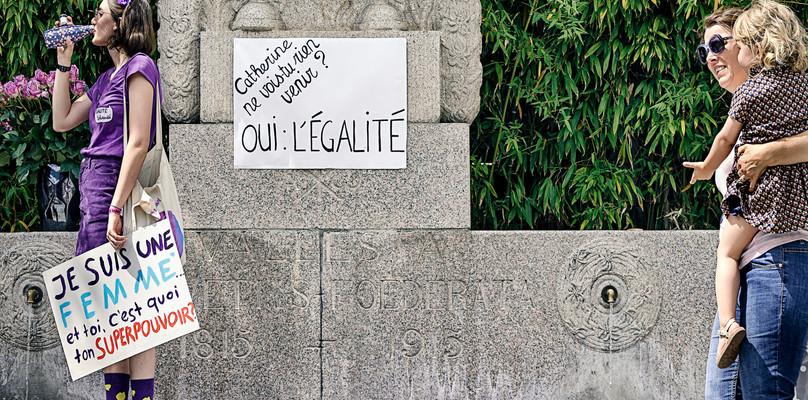 Florence Zufferey - Reportage Grève des