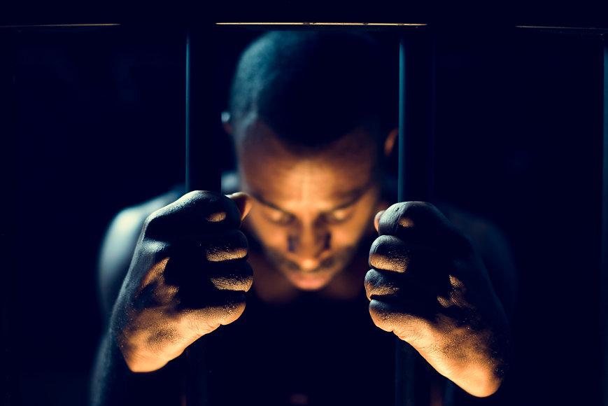 african-descent-man-in-prison-PA2FBNR.jp