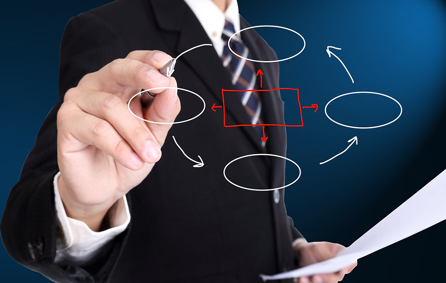 Businessman writing cycle for build his business .jpg