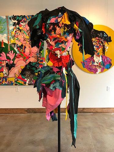 "66. Hanzo - Jon Parlangeli, Sculpture (Base 24""x24"", Height 69"")"