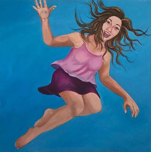 "55. Living The Dream - Donna Hinson, Acrylic (36"" W x 36"" H)"