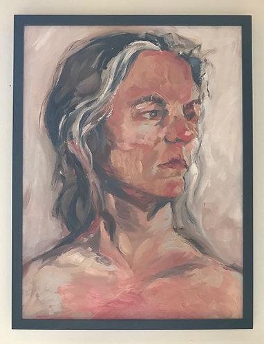"31. Seldom Still - Audrey Zofchack, Oil (19"" W x 25"" H, framed)"