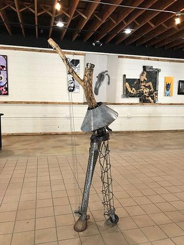 "59. Able - Ann Smith, Sculpture (32"" x 19"", 70"" H)"