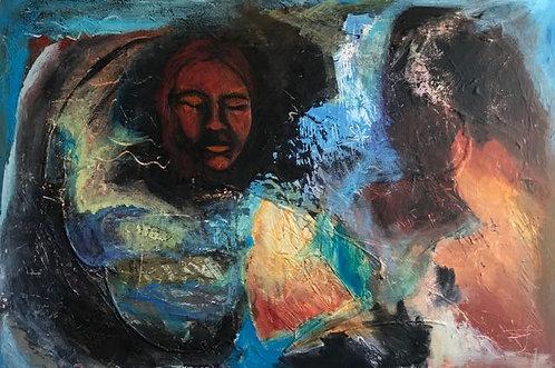 "51. When Blue Skies Fall - Donna Hinson, Acrylic (36"" W x 24"" H)"