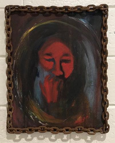 "23. Never Really Free - Donna Hinson, Acrylic (16.5"" W x 20.5"" H, framed)"