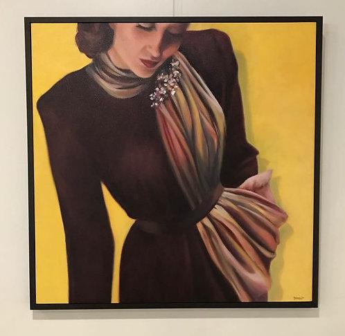 "25. Tatinia - Paula Zammit, Oil (42"" W x 42"" H, framed)"