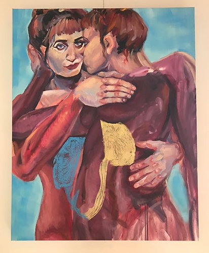 "32. Einfuhlung - Elise Martin, Acrylic (32"" W x 40"" H)"