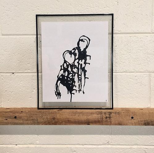 """24. <3 U (2 Death) - Sarah Alcodray, Acrylic (16"""" W x 20"""" H, framed)"""