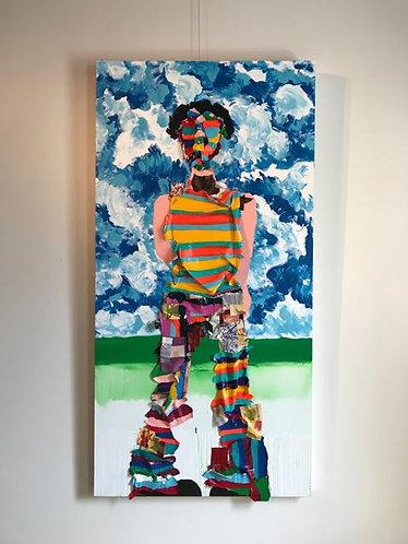 "37. Dropped My Cell - Jon Parlangeli, Acrylic (36"" W x 72"" H)"