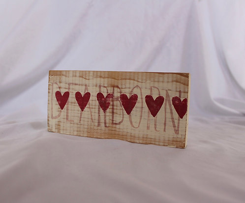 Painted Wooden Plaque
