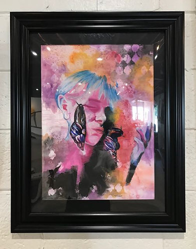 "12. Roaming - Sasha Corder, Mixed Media (22.5"" W x 28.5"" H, framed)"