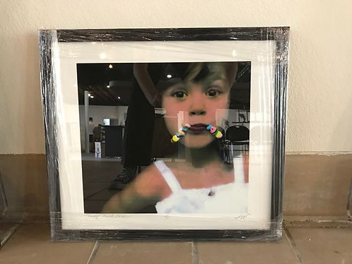 """46. Candy Necklace - Patricia Izzo, Multi Media Painting (18.5""""W x 17""""H,framed)"""