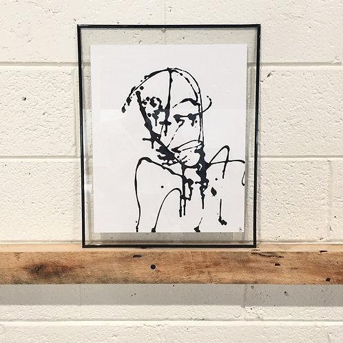 "11. Don't Hang Your Head, Kid - Sarah Alcodray, Acrylic (16"" W x 20"" H, framed)"