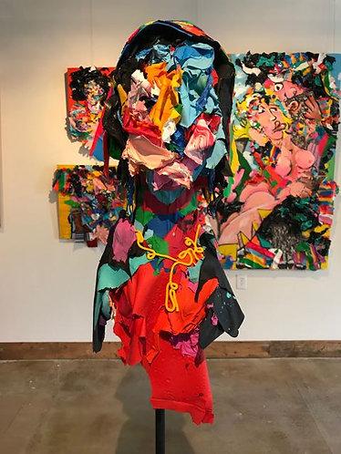 "65. Oda - Jon Parlangeli, Sculpture (Base 24""x24"", Height 69"")"