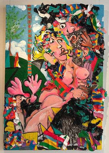"39. Tall Tales - Jon Parlangeli, Acrylic (48"" W x 69"" H)"