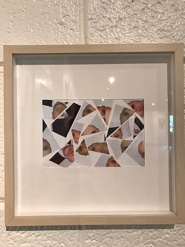 """7. Portrait of The Artist - Carl George, Collage (10"""" W x 10"""" H, framed)"""