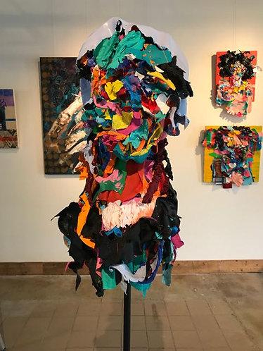 "64. Yasuke - Jon Parlangeli, Sculpture (Base 24""x24"", Height 69"")"