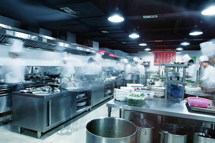A typical professional kitchen