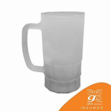 Caneca Vidro Chopp 550 ml - Fosca - 15 Cm