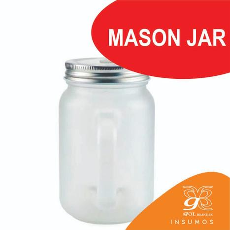Mason Jar fosco canudo vermelho 350 ml