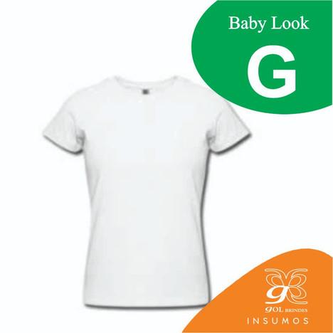 Camisa Baby Look Poliester G