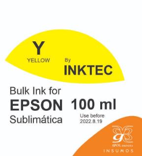 Tinta Inktec 100 ml cor amarelo