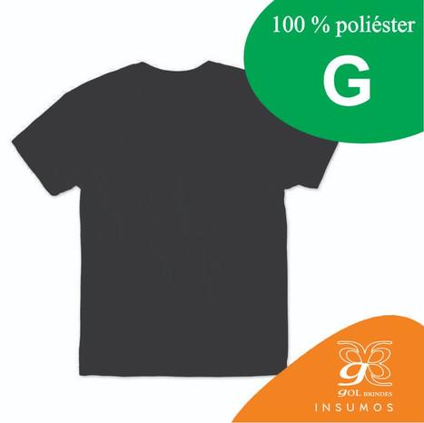 Camisa Preta Poliester G