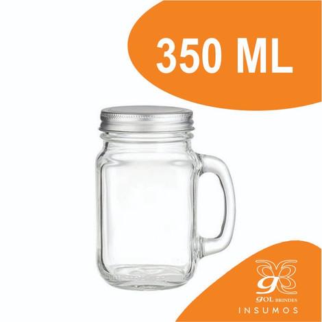 Mason Jar canudo 350 ml