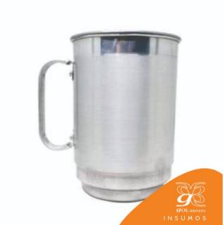 Caneca de Alumínio Resinada 650 ml Lisa - Natural