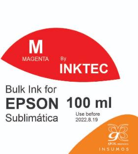 Tinta Inktec 100 ml cor magenta