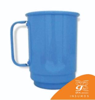 Caneca de Alumínio Resinada 650 ml Lisa - Azul