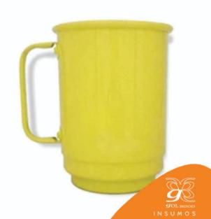 Caneca de Alumínio Resinada 650 ml Lisa - Amarelo