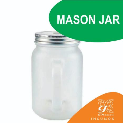 Mason Jar fosco canudo verde 350 ml