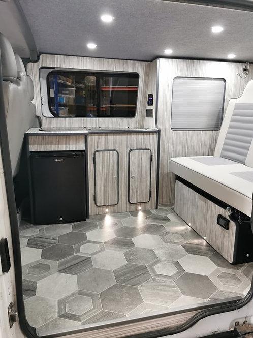 Full width Kitchen POD with wardrobe area SWB
