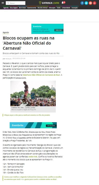 Catraca Livre - 29.12.2015