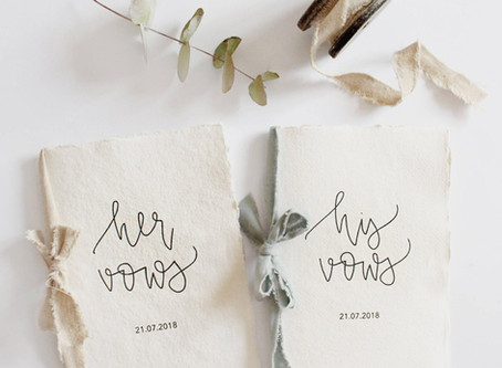 Writing Your Wedding Vows: Tips & Inspiration