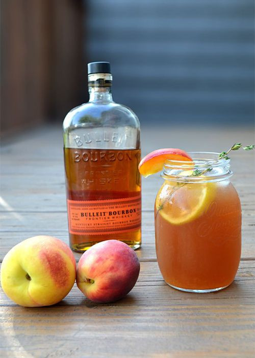 Go classic with a good ol' glass of sweet tea, sweetened even more with peach preserves and lemon juice. And of course, spike it with bourbon.