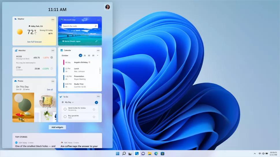 I widget di Windows 11
