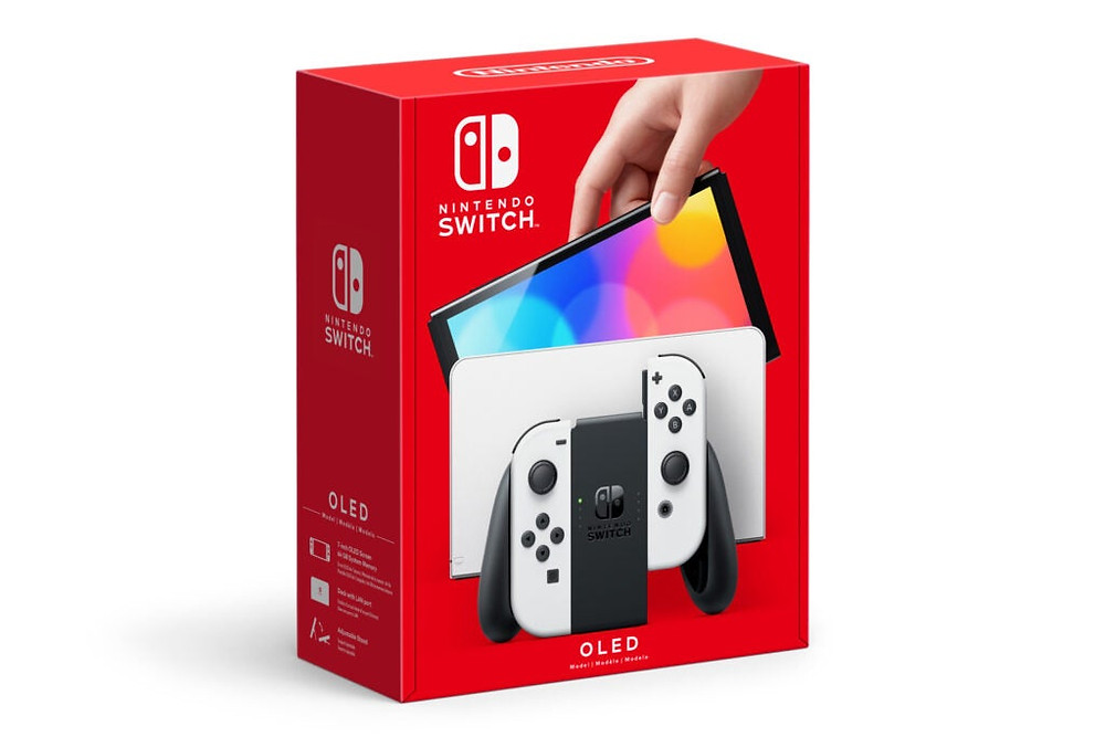 Scatola di Nintendo Switch OLED