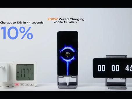 Xiaomi afferma di poter caricare completamente un telefono in otto minuti a 200 W