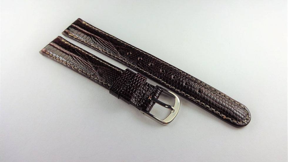 Cerruti 1881 13mm Brown Royal Allig-Lizard Grain on Calf