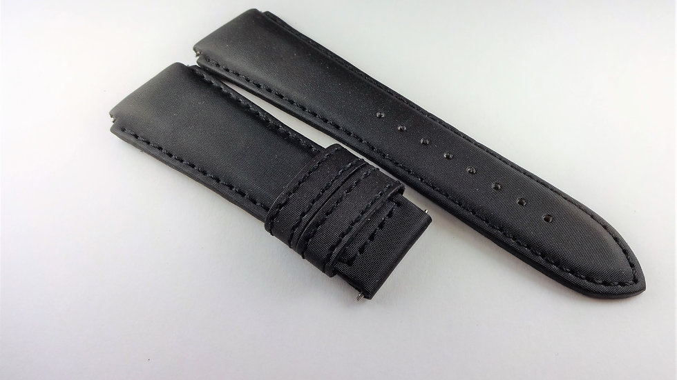 Replacement 20mm Black Satin Leather for Deployment