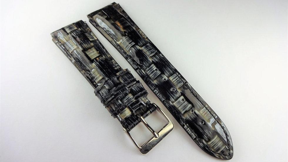 Replacement For Technomarine 19mm Gray Genuine Calfskin