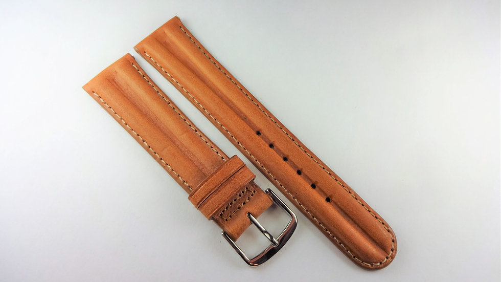 Seiko 20mm Tan Genuine Leather