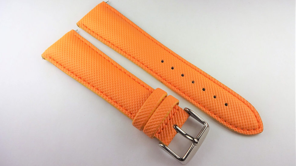 Replacement 24mm Orange Genuine Rubberized Leather