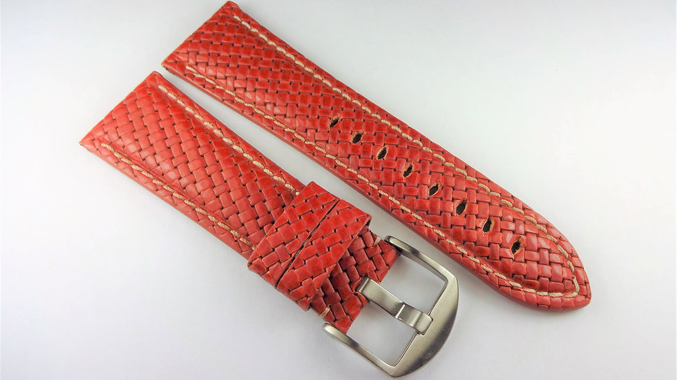 Replacement Hadley-Roma for Panerai 26mm Reddish Brown Genuine Leather