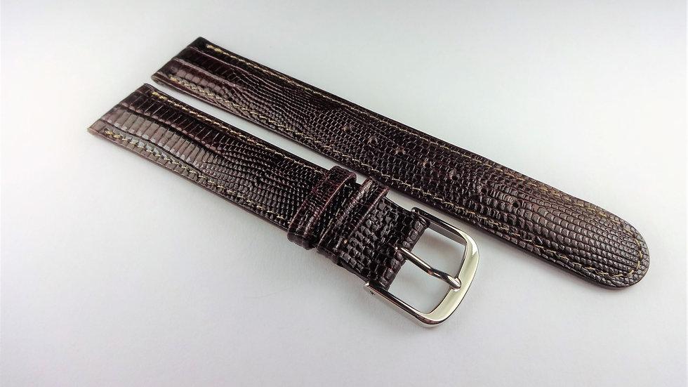 Cerruti 1881 17mm Dark Brown Royal Allig-Lizard Grain on Calfskin
