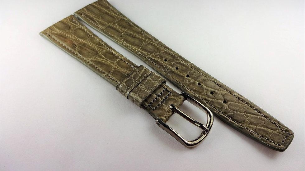 Hamilton 20mm Gray Genuine Crocodile