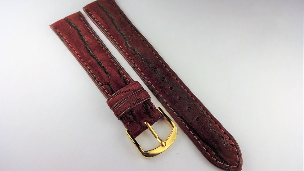 Artina 18mm Wine Genuine Nubuck Artica Leather